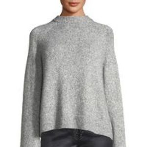 NWT Nanette Lepore Gray Mock Neck Sweater 3X